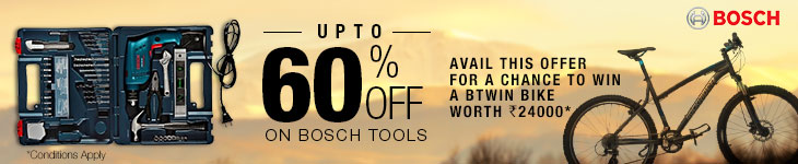 Upto 60% Off on Bosch Tools