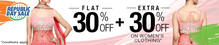 Flat 30% Off + Extra 30% Off on Women's Clothing