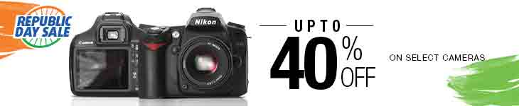 Upto 40% Off on select Cameras