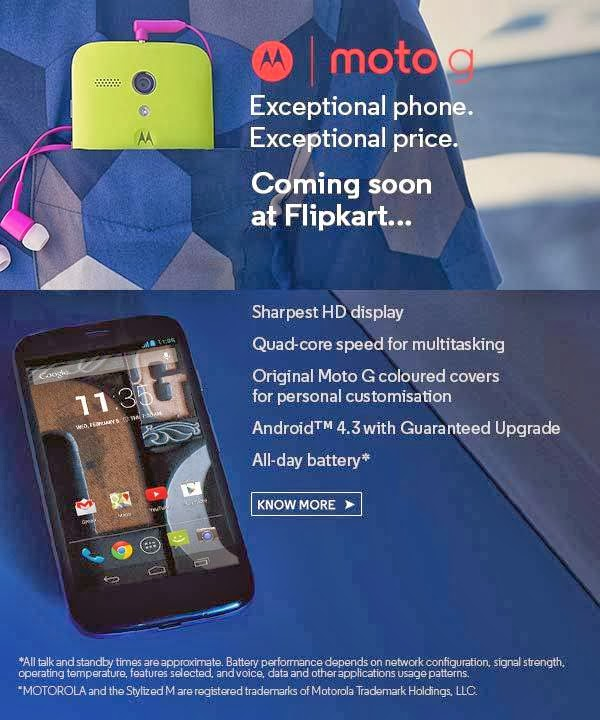 Moto G Confirrmed to Be Coming Soon On Flipkart