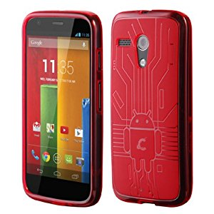 Moto G Red Cruzerlite Bugdroid Circuit Case for Motorola Moto G - Red
