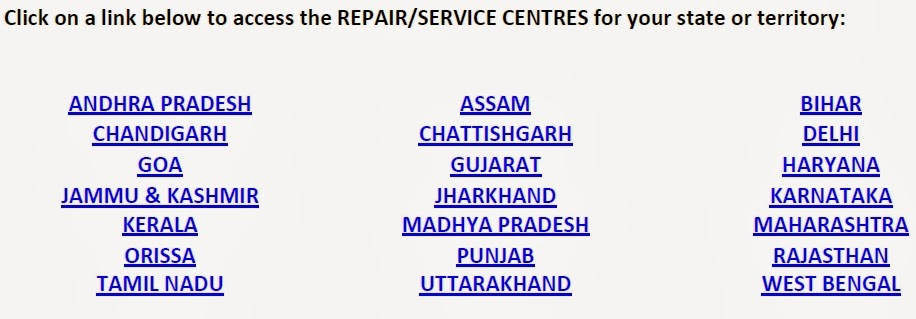 List of Service Centre States of Motorola for Moto G in India Updated on 23rd Jan'14