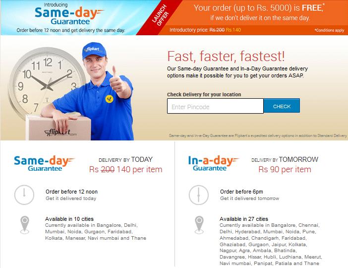 Flipkart's Faster Delivery Service