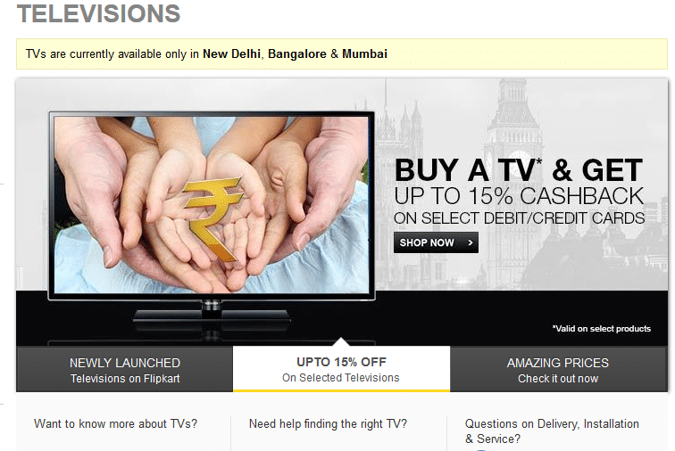 Shop for TVs on Flipkart.com