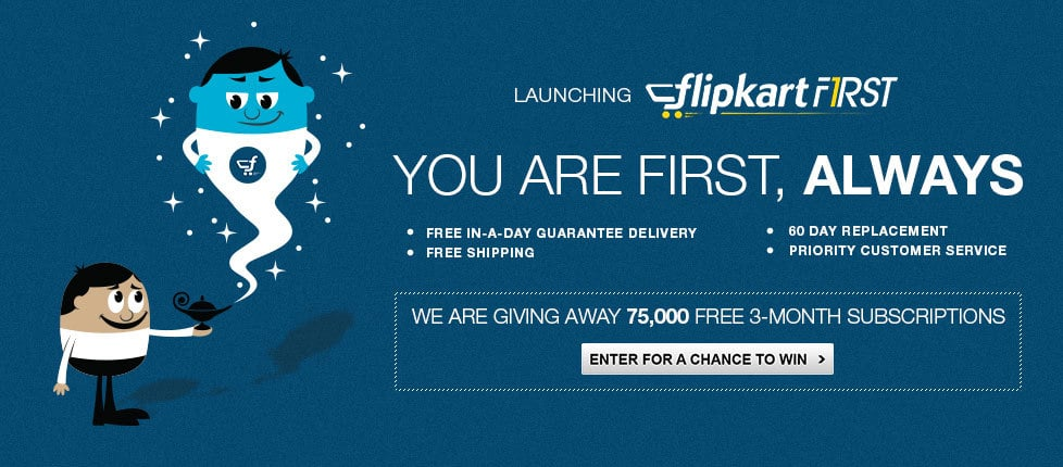 Flipkart Launches 'Flipkart First',a Premium Subscription Service