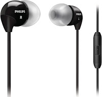 Philips SHE3595BK/00 In-Ear Headphone with Mic