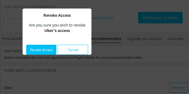 How to Remove PayTM Wallet from Uber !