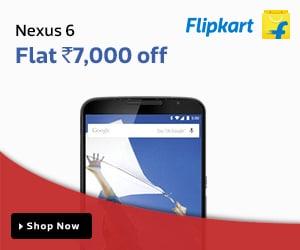 Nexus 6 - Flat Rs. 7000 off