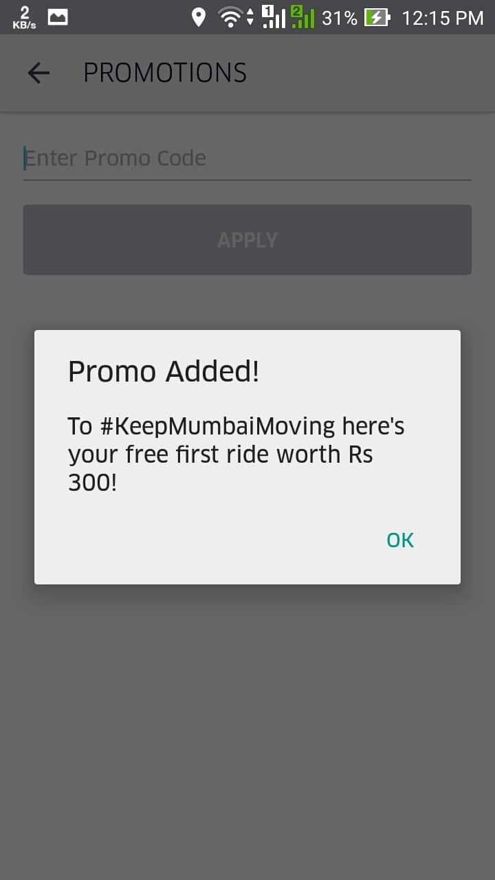 Get Free Uber Ride Worth ₹ 300 for Old/Existing Users in India