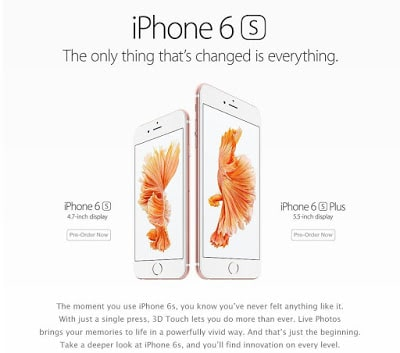 Apple iPhone 6s & iPhone 6s Plus Now Available for Pre-order on Amazon
