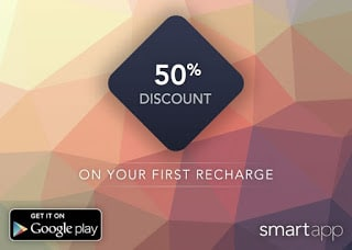 smartapp Offer- Get Rs.100 Recharge for Rs.50