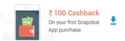 b8ece7b991a Snapdeal Rs.100 Cashback On First App Purchase of Rs.100