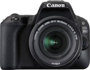 Canon EOS 200D 24.2MP Digital SLR Camera + EF-S 18-55mm f4 IS STM Lens(16 GB SD Card + Camera Bag)