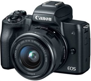 Canon EOS M50 24.1MP Mirrorless Digital SLR Camera + 15-45 mm Lens