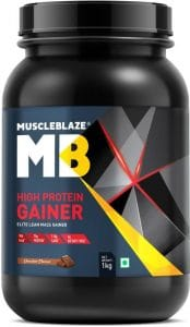 MuscleBlaze High Protein Lean Mass Gainer Chocolate, 1 Kg