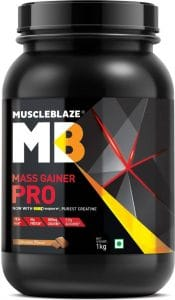 MuscleBlaze Mass Gainer PRO with Creapure Chocolate, 1 Kg