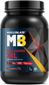 MuscleBlaze Mass Gainer XXL Chocolate, 1 Kg