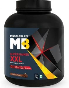 MuscleBlaze Super Gainer XXL Chocolate, 3 kg