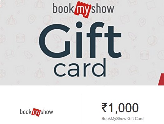 BookMyShow Gift Voucher Worth Rs.1000 for Just Rs.600