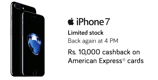 iPhone & iPhone 7 Plus: Instant Discount of Rs.10000 on Using American Express Cards Snapdeal