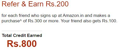 Earn Free Rs.200 Amazon.in Gift Card on Referring Friends