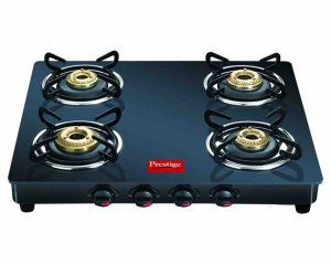 Prestige Marvel Glass Gas Table,4 Burner
