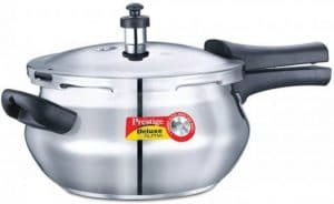 Prestige Deluxe Alpha Outer Lid Stainless Steel 3.3 L Pressure Cooker