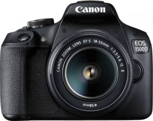 Canon EOS 1500D 24.1MP Digital SLR Camera with 18-55 and 55-250mm is II Lens