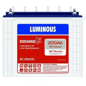Luminous RC 25000 200AH Tubular Battery