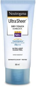 Neutrogena Ultra Sheer Dry Touch Sunblock, SPF 50+, 88ml