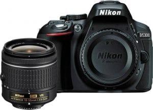 Nikon D5300 24.2MP Digital SLR Camera with AF-P 18-55mm f/ 3.5-5.6g VR Kit Lens