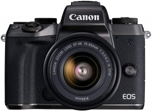 Canon EOS M5 Mirrorless Camera Kit 15-45mm Lens Kit WiFi Enabled and Bluetooth