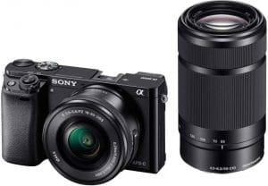 Sony Alpha A6000Y 24.3MP Digital SLR Camera (Black) + 16-50mm Lens + 55-210mm Lens
