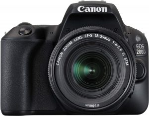 Canon EOS 200D 24.2MP Digital SLR Camera with EF-S 18-55 mm is STM Lens, and EF-S 55-250 mm is STM Lens