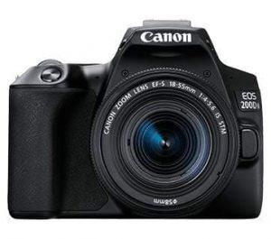 Canon EOS 200D II 24.1MP Digital SLR Camera + EF-S 18-55mm is STM Lens + EF-S 55-250mm is STM Lens