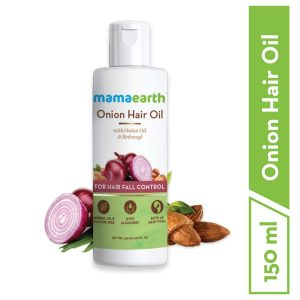 Mamaearth Onion Oil for Hair Growth & Hair Fall Control with Redensyl