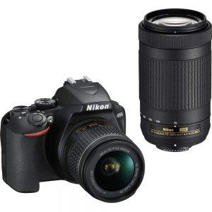 Nikon D3500 DX-Format DSLR Two Lens Kit with AF-P DX Nikkor 18-55mm f/3.5-5.6G VR & AF-P DX Nikkor 70-300mm f/4.5-6.3G ED