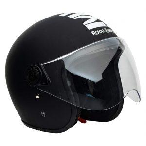 Royal Enfield Matt Black Open Face Helmet