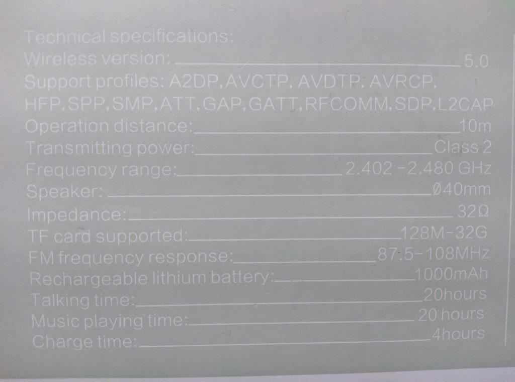 Boltt Blast 120 Specifications