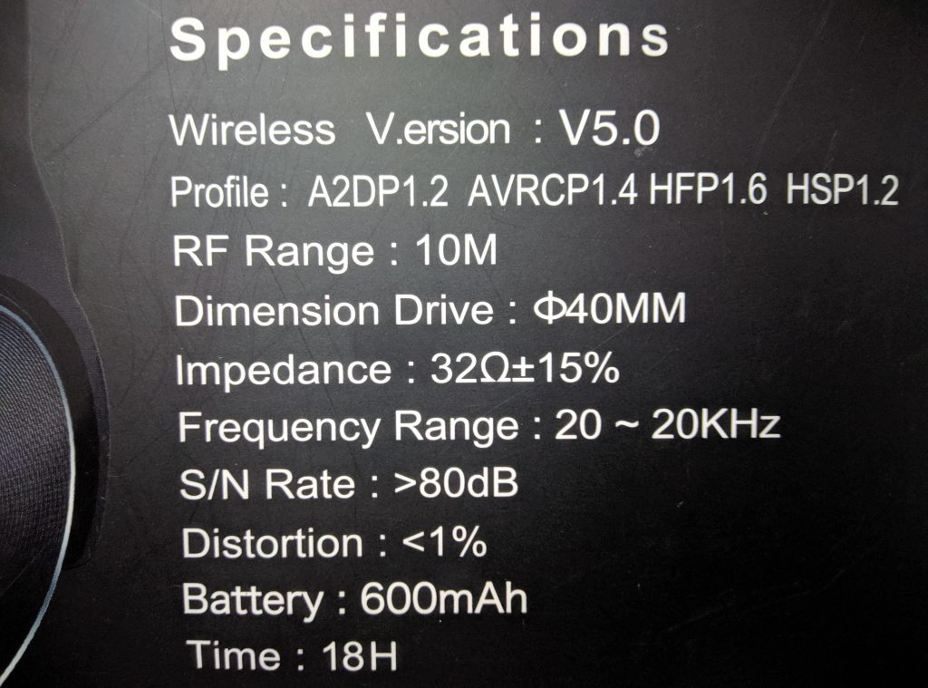 Boltt Blast 130 Specifications