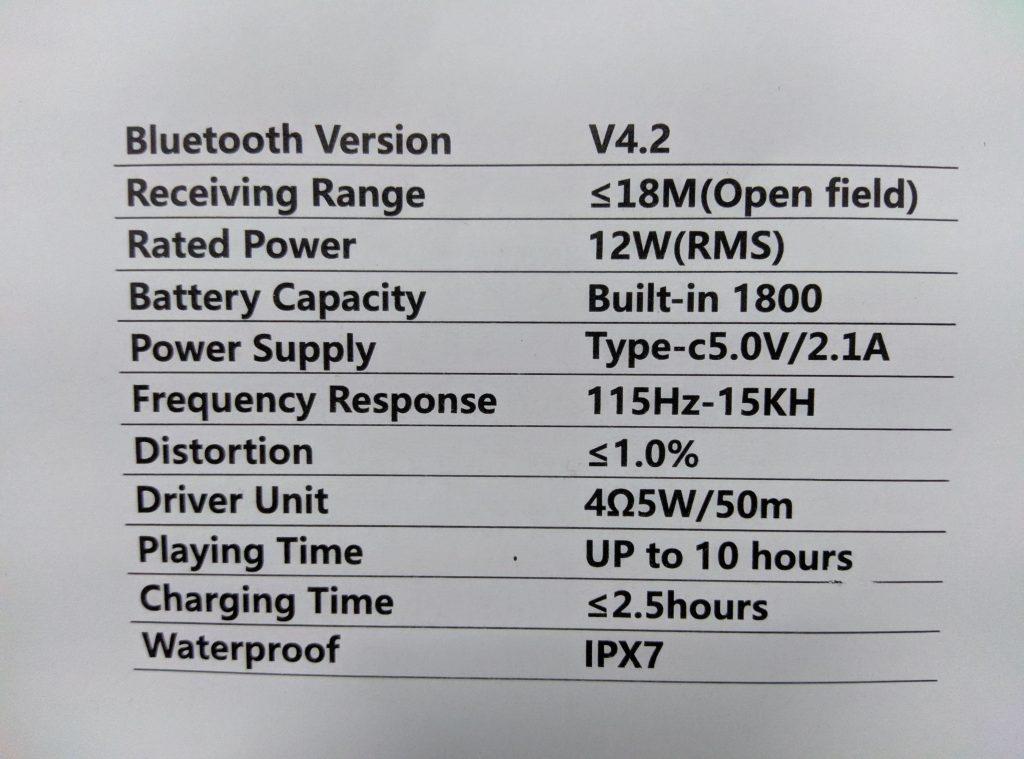Boltt Xplode 120 Specifications